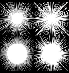 comic book radial lines background manga speed vector image