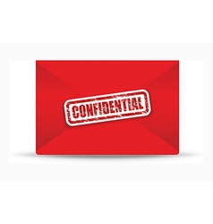 confidential red closed envelope vector image