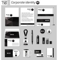 Corporate identity business photorealistic design vector image
