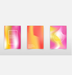 cover templates with holographic effect hologram vector image
