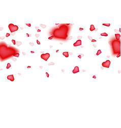 creative of heart confetti vector image