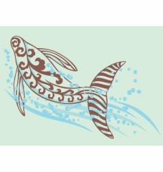 dancing whale vector image