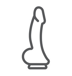 Dildo line icon sex toy and adult penis sign vector