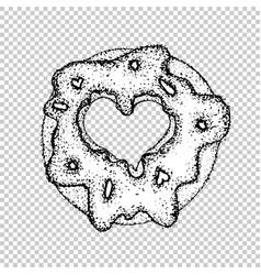 donut logo vintage style badges vector image