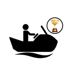 extreme sport avatar jet ski icon vector image