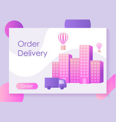 Fast delivery service modern life in the city vector