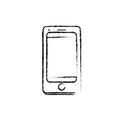 figure technology smartphone to electronic vector image