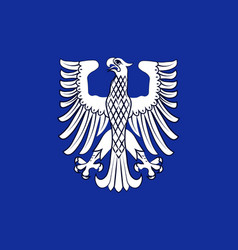 Flag of schweinfurt in lower franconia in bavaria vector