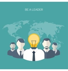 Flat Be a leader Ideas vector