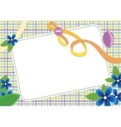 floral invitation frame vector image