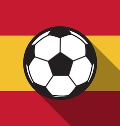 Football icon with Spain flag vector