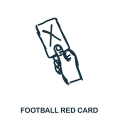 football red card icon mobile apps printing and vector image