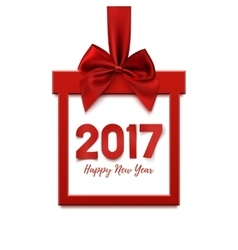 Happy New Year 2017 square banner vector