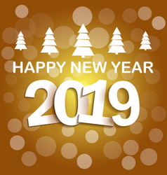Happy new year 2019 background decoration vector