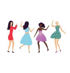 hen-party or dancing entertainment women vector image