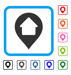 home marker framed icon vector image