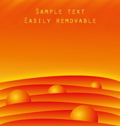 Hot fiery background template vector