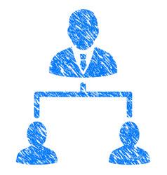 human hierarchy grunge icon vector image