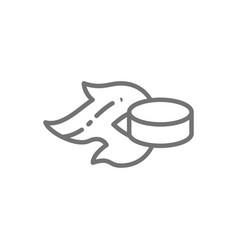 ice hockey puck goal line icon vector image