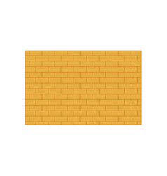 Icon in flat design brick wall vector