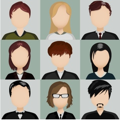 Icons people vector
