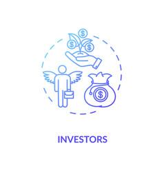 Investors concept icon vector