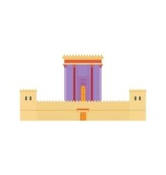 Jerusalem Herods Temple flat vector image
