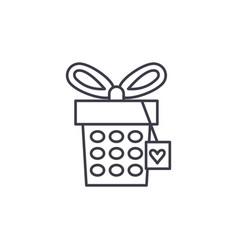 jewelery box line icon concept jewelery box vector image