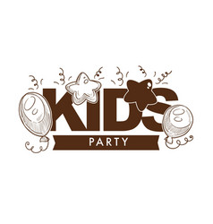 Kid party event celebration decoration with vector