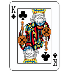 king of clubs french version vector image