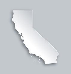 Map of California vector