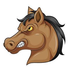 Mascot head an angry horse vector