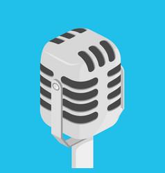 Microphone isometric vector