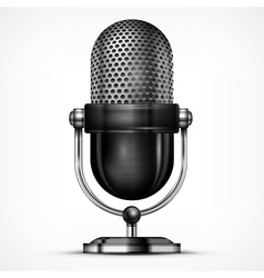 Microphone on white vector