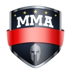 MMA Fights Shield badge vector