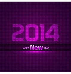 New Year 2014 background glowing neon EPS 10 vector