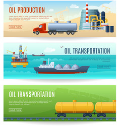 Oil Industry Banners Set vector