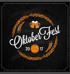 Oktoberfest on chalk design background vector