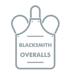 Overalls blacksmith logo simple gray style vector