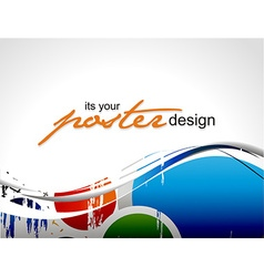 poster design vector image