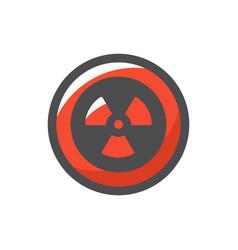 radiation round sign icon cartoon vector image