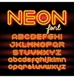 Round Neon Font vector