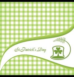 Saint Patrick Day Greeting vector image