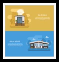 Scandinavian design house banners vector