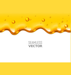 seamless dripping honey on white background vector image
