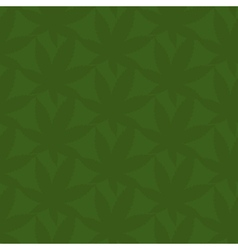 Seamless pattern of abstract leaves of marijuana vector image