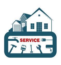 service and construction of the house vector image