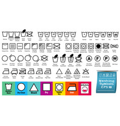 set of fabric care or washing symbols or laundry s vector image