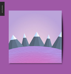 Simple things - mountain landscape vector
