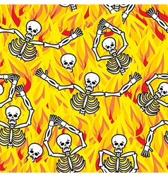 Sinners in fire hell seamless pattern dead in vector image
